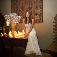 Bride on a piano