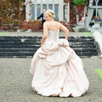 Wedding dress at Adare Manor
