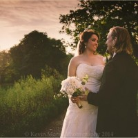 Bride & Groom in the sunset